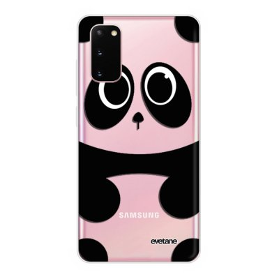 Coque Samsung Galaxy S20 Plus souple transparente Panda Motif Ecriture Tendance Evetane