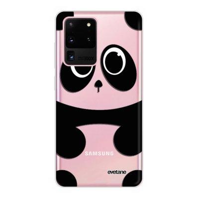 Coque Samsung Galaxy S20 Ultra 5G souple transparente Panda Motif Ecriture Tendance Evetane