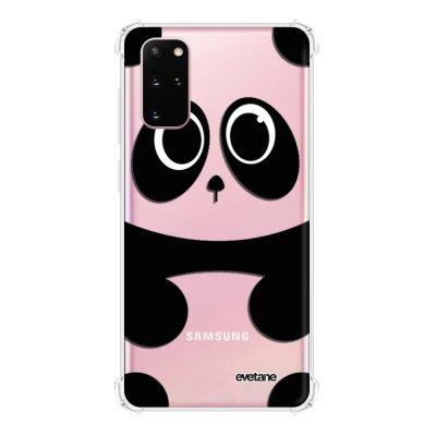 Coque Samsung Galaxy S20 Plus anti-choc souple avec angles renforcés transparente Panda Evetane