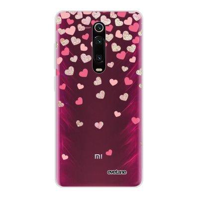 Coque Xiaomi Mi 9T 360 intégrale transparente Coeurs en confettis Ecriture Tendance Design Evetane