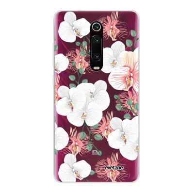 Coque Xiaomi Mi 9T 360 intégrale transparente Orchidées Ecriture Tendance Design Evetane