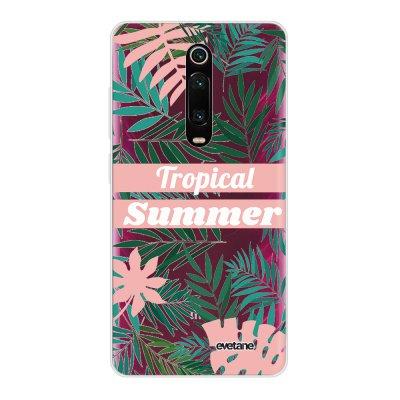 Coque Xiaomi Mi 9T 360 intégrale transparente Tropical Summer Pastel Ecriture Tendance Design Evetane