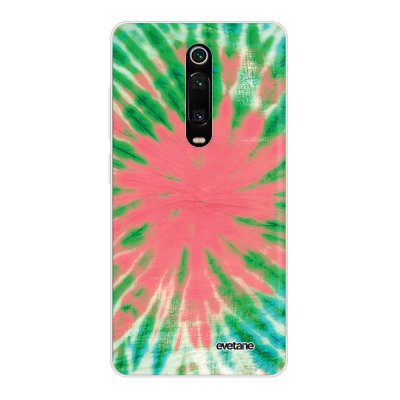 Coque Xiaomi Mi 9T 360 intégrale transparente Tie and Dye Corail Ecriture Tendance Design Evetane