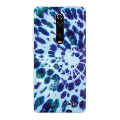 Coque Xiaomi Mi 9T 360 intégrale transparente Tie and Dye Bleu Ecriture Tendance Design Evetane