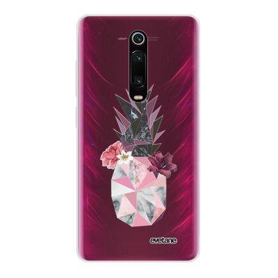 Coque Xiaomi Mi 9T 360 intégrale transparente Ananas Fleuri Ecriture Tendance Design Evetane