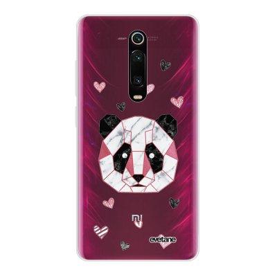 Coque Xiaomi Mi 9T 360 intégrale transparente Panda Géométrique Rose Ecriture Tendance Design Evetane
