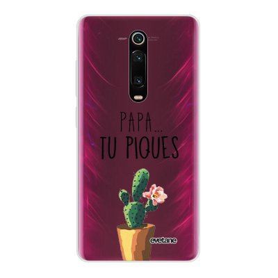 Coque Xiaomi Mi 9T 360 intégrale transparente Papa tu piques Ecriture Tendance Design Evetane