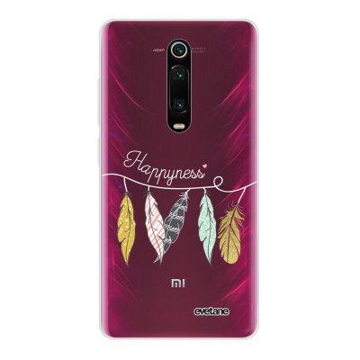 Coque Xiaomi Mi 9T 360 intégrale transparente Happyness Ecriture Tendance Design Evetane