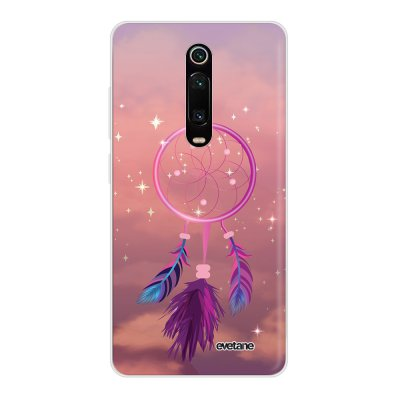 Coque Xiaomi Mi 9T 360 intégrale transparente Attrape rêve rose Ecriture Tendance Design Evetane