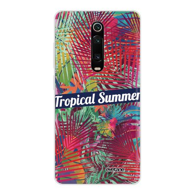 Coque Xiaomi Mi 9T 360 intégrale transparente Tropical Summer Ecriture Tendance Design Evetane