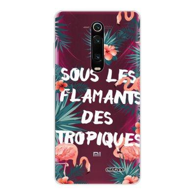 Coque Xiaomi Mi 9T 360 intégrale transparente Flamants des tropiques Ecriture Tendance Design Evetane