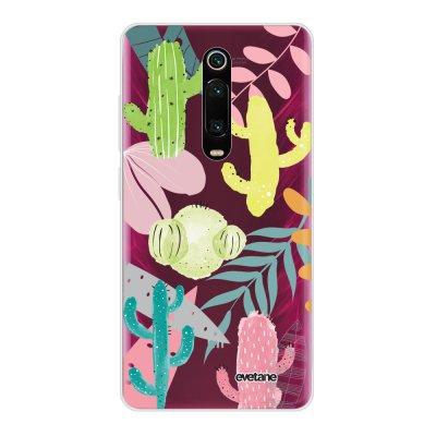 Coque Xiaomi Mi 9T 360 intégrale transparente Cactus et Compagnie Ecriture Tendance Design Evetane