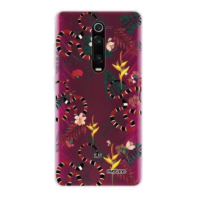 Coque Xiaomi Mi 9T 360 intégrale transparente Serpents et fleurs Ecriture Tendance Design Evetane