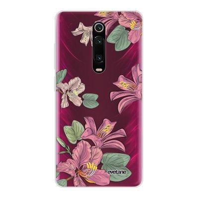 Coque Xiaomi Mi 9T 360 intégrale transparente Lys violettes Ecriture Tendance Design Evetane