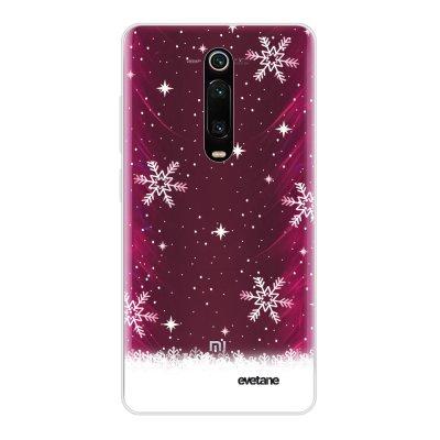 Coque Xiaomi Mi 9T 360 intégrale transparente Chute de flocons Ecriture Tendance Design Evetane
