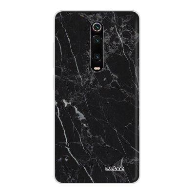 Coque Xiaomi Mi 9T 360 intégrale transparente Marbre noir Ecriture Tendance Design Evetane