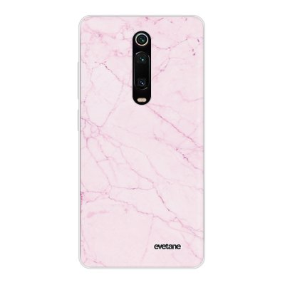 Coque Xiaomi Mi 9T 360 intégrale transparente Marbre rose Ecriture Tendance Design Evetane