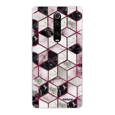 Coque Xiaomi Mi 9T 360 intégrale transparente Cubes Géométriques Ecriture Tendance Design Evetane