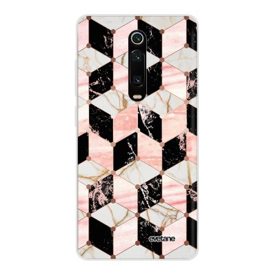 Coque Xiaomi Mi 9T 360 intégrale transparente Cubes Marbres Ecriture Tendance Design Evetane