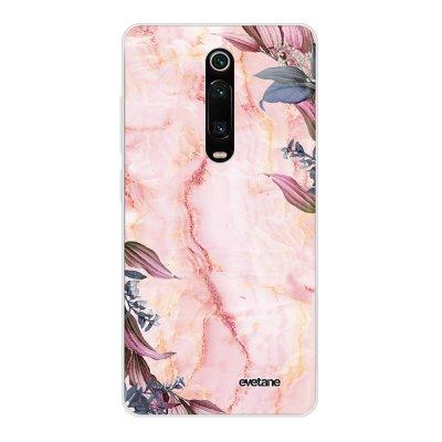 Coque Xiaomi Mi 9T 360 intégrale transparente Marbre Fleurs Ecriture Tendance Design Evetane