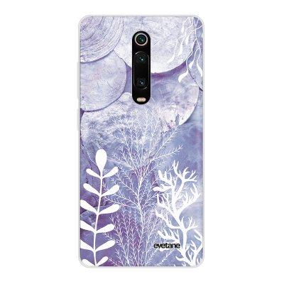 Coque Xiaomi Mi 9T 360 intégrale transparente Nacre et Algues Ecriture Tendance Design Evetane