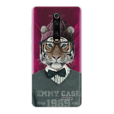 Coque Xiaomi Mi 9T 360 intégrale transparente Tigre Fashion Ecriture Tendance Design Evetane