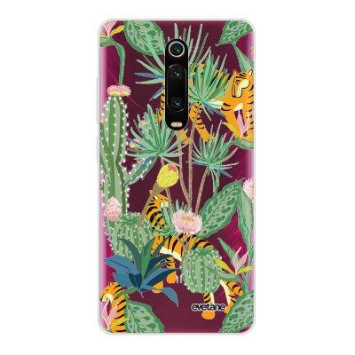 Coque Xiaomi Mi 9T 360 intégrale transparente Tigres et Cactus Ecriture Tendance Design Evetane