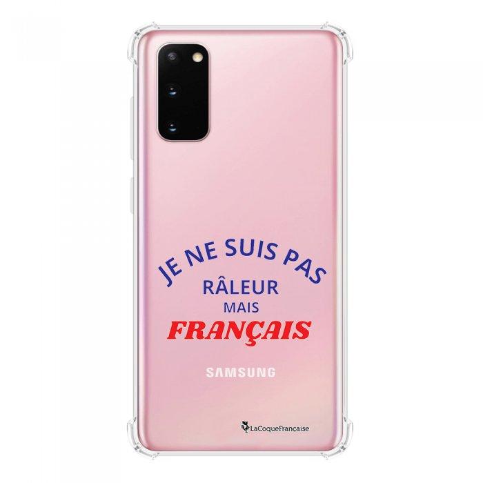 Coque Samsung Galaxy S20 anti-choc souple avec angles renforcés transparente Râleur mais Français La Coque Francaise