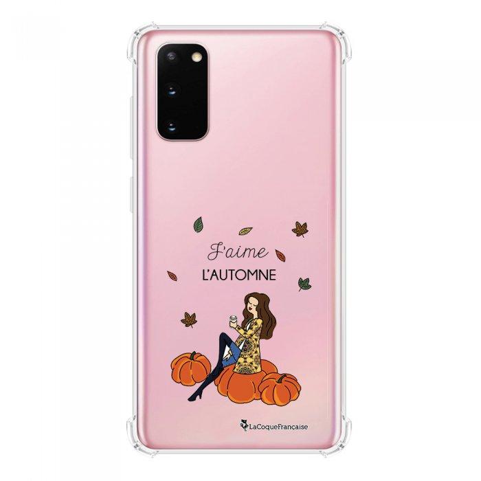 Coque Samsung Galaxy S20 anti-choc souple avec angles renforcés transparente J'aime l'automne La Coque Francaise