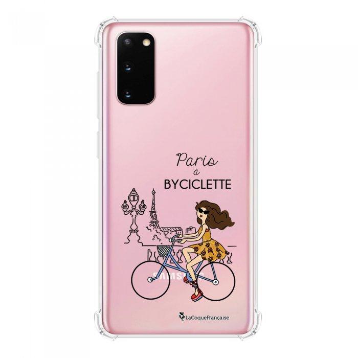 Coque Samsung Galaxy S20 anti-choc souple avec angles renforcés transparente Paris à Bicyclette La Coque Francaise