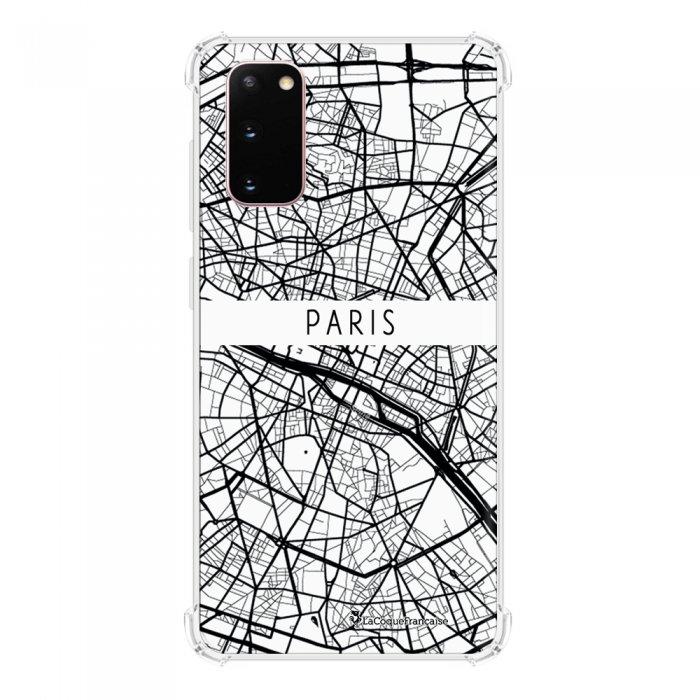 Coque Samsung Galaxy S20 anti-choc souple avec angles renforcés transparente Carte de Paris La Coque Francaise