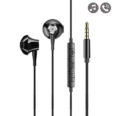Écouteurs filaires avec prise jack de 3,5 mm - métal