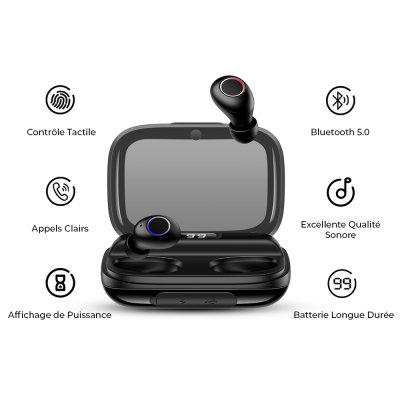 Écouteurs bluetooth 5,0 Stéréo HD Anti-Bruit