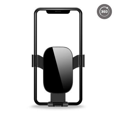 Support voiture de téléphone sur grille d'aération  rotatif à 360 ° noir