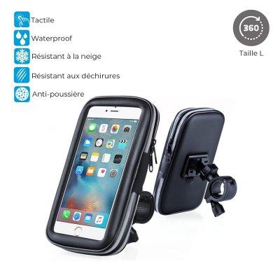 Support vélo étanche pour Smartphones Taille L