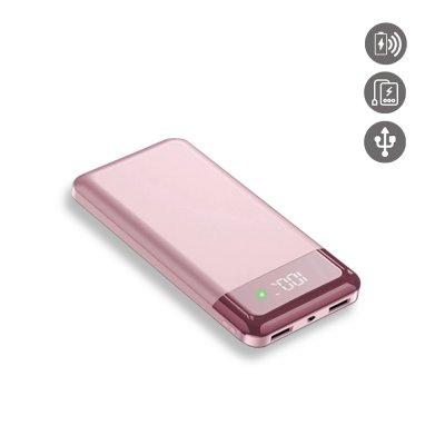 Batterie externe induction et Double Usb 20000 Mah à affichage Numérique led- rose gold