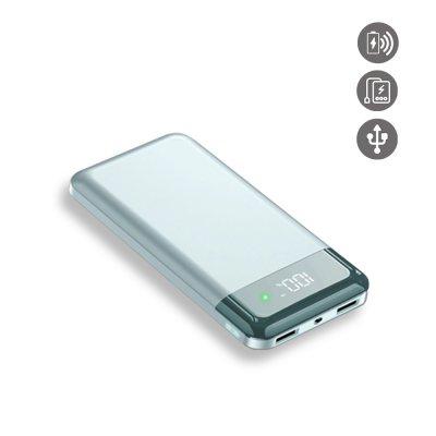 Batterie externe induction et Double Usb 20000 Mah à affichage Numérique led-vert gold