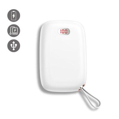 Batterie Double Usb 10000 Mah à affichage Numérique- blanche-compacte et puissante