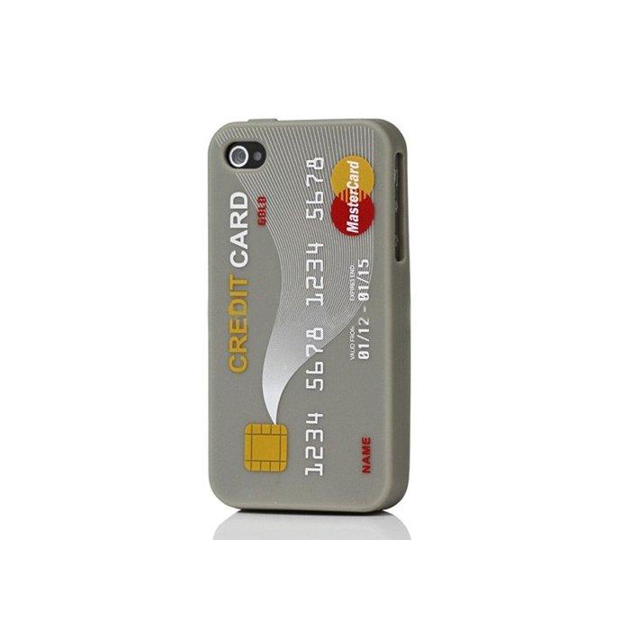Coque silicone carte de credit Mastercard grise iPhone 4/4S