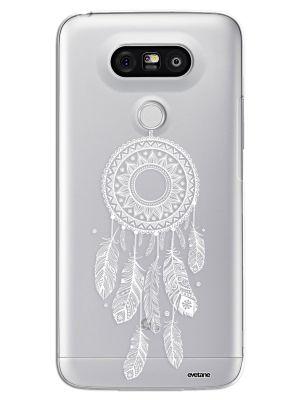 Coque rigide transparent Attrape reve blanc pour LG G5 H850