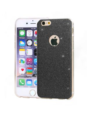 Coque silicone souple Paillettes argent pour iPhone 7