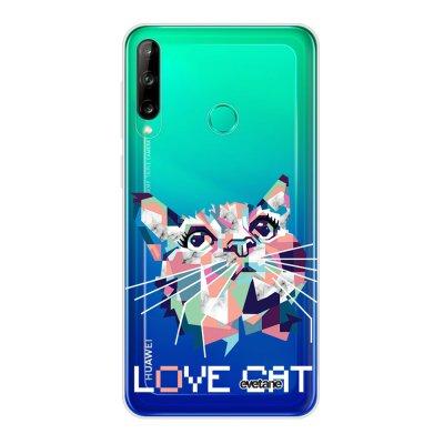 Coque Huawei P40 Lite E souple transparente Cat pixels Motif Ecriture Tendance Evetane