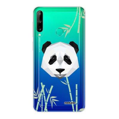 Coque Huawei P40 Lite E souple transparente Panda Bambou Motif Ecriture Tendance Evetane
