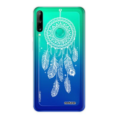 Coque Huawei P40 Lite E souple transparente Attrape reve blanc Motif Ecriture Tendance Evetane