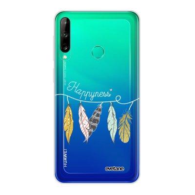 Coque Huawei P40 Lite E souple transparente Happyness Motif Ecriture Tendance Evetane