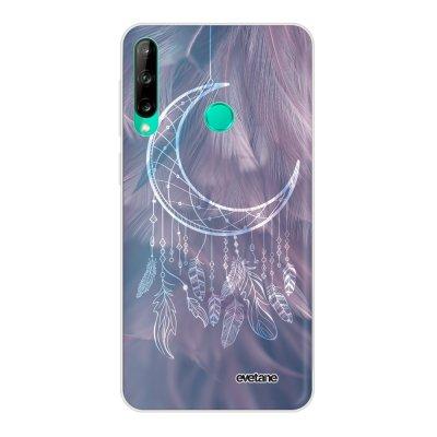 Coque Huawei P40 Lite E souple transparente Lune Attrape Rêve Motif Ecriture Tendance Evetane