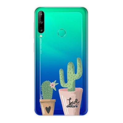 Coque Huawei P40 Lite E souple transparente Cactus Love Motif Ecriture Tendance Evetane