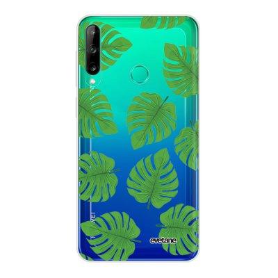 Coque Huawei P40 Lite E souple transparente Feuilles palmiers Motif Ecriture Tendance Evetane
