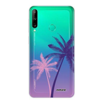Coque Huawei P40 Lite E souple transparente Palmiers et Dégradé Motif Ecriture Tendance Evetane