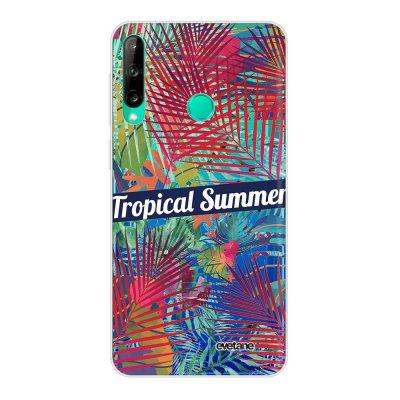 Coque Huawei P40 Lite E souple transparente Tropical Summer Motif Ecriture Tendance Evetane